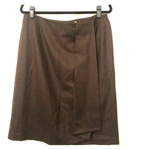 TALBOTS NWT Brown Wool Skirt Size 14W